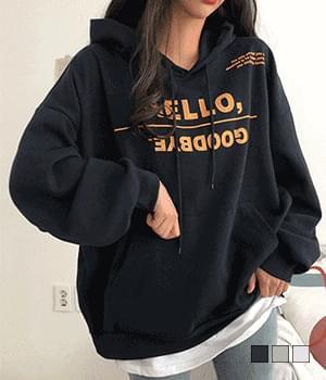 Hello Wang overfit back print hood