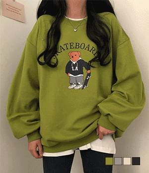 Skateboard Teddy Bear Rouge Sweatshirt