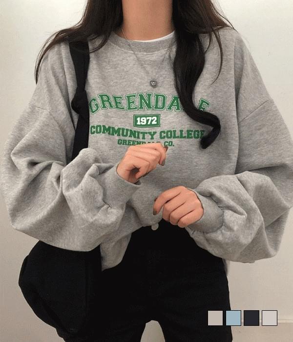 Greendale lettering Loose-fit Sweatshirt