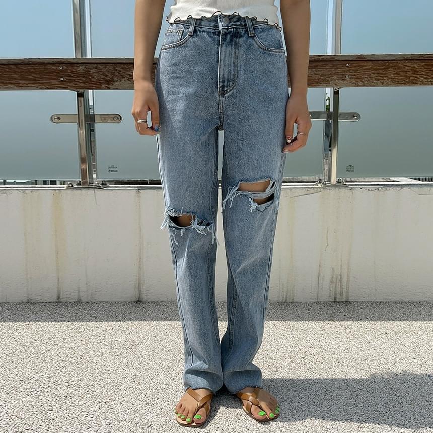 Peace Vintage Denim Pants