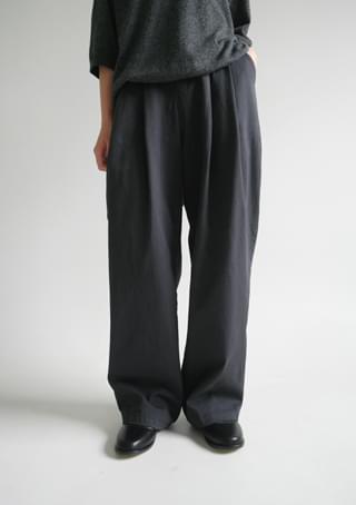 cotton pintuck easy pants