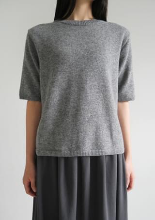 wool cashmere half knit