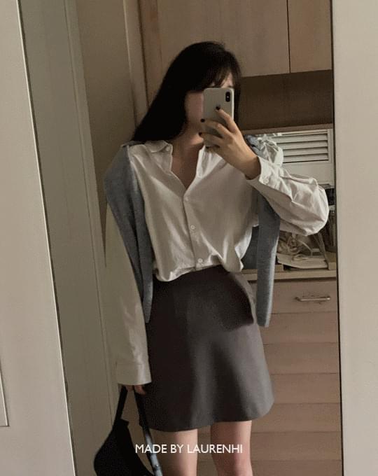 Multi Classic Stripe Loose-fit Shirt - 2 color