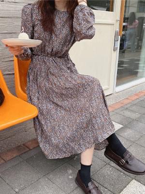 Mud Pleated Dress