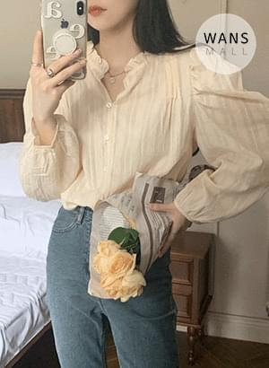 bl6187 corn frill neck blouse