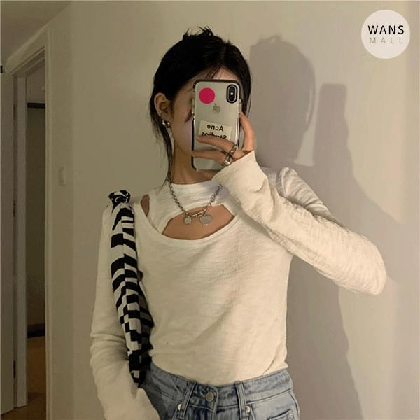 tt6200 Petit Layered Unique Long Sleeve T-shirt (Delayed delivery)