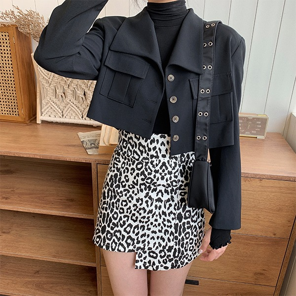 Mielle two-pocket cropped jacket