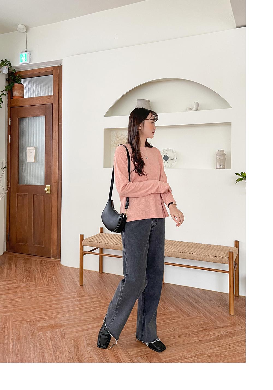 Big Size 26-36 Inch Blow Cut Wide Banding Denim Pants