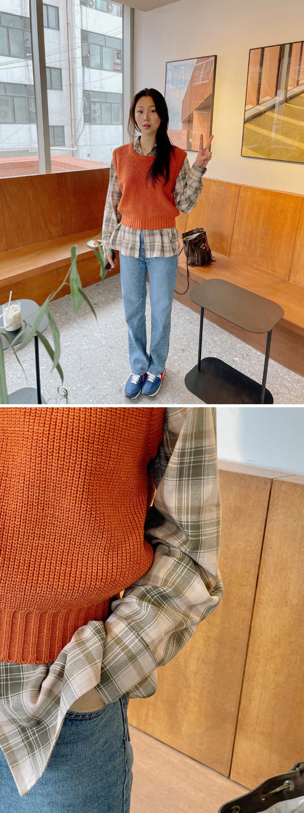 Onion Crop Knitwear Vest