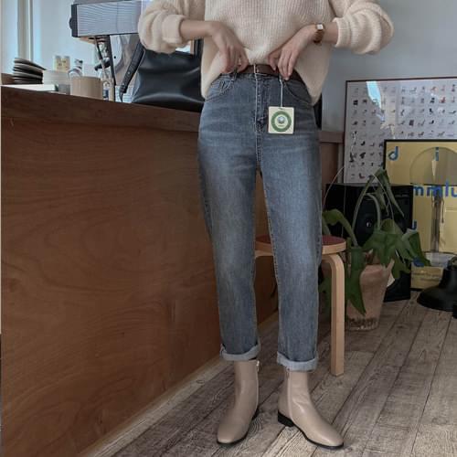 Organic Semi-Boy Fit Vintage Denim Pants *