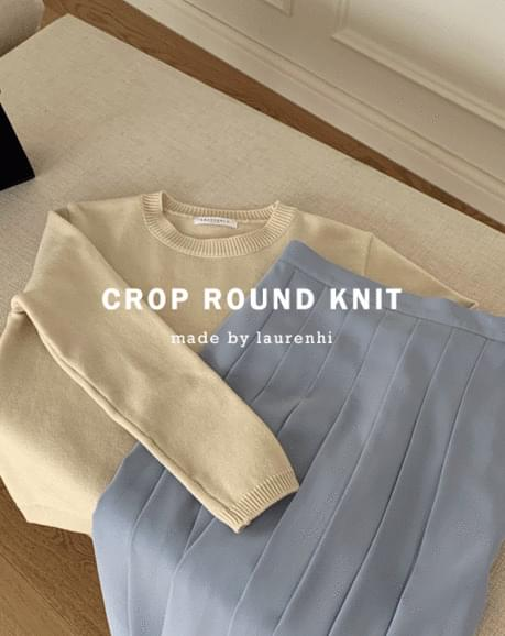 Juicy Crop Round- Knitwear
