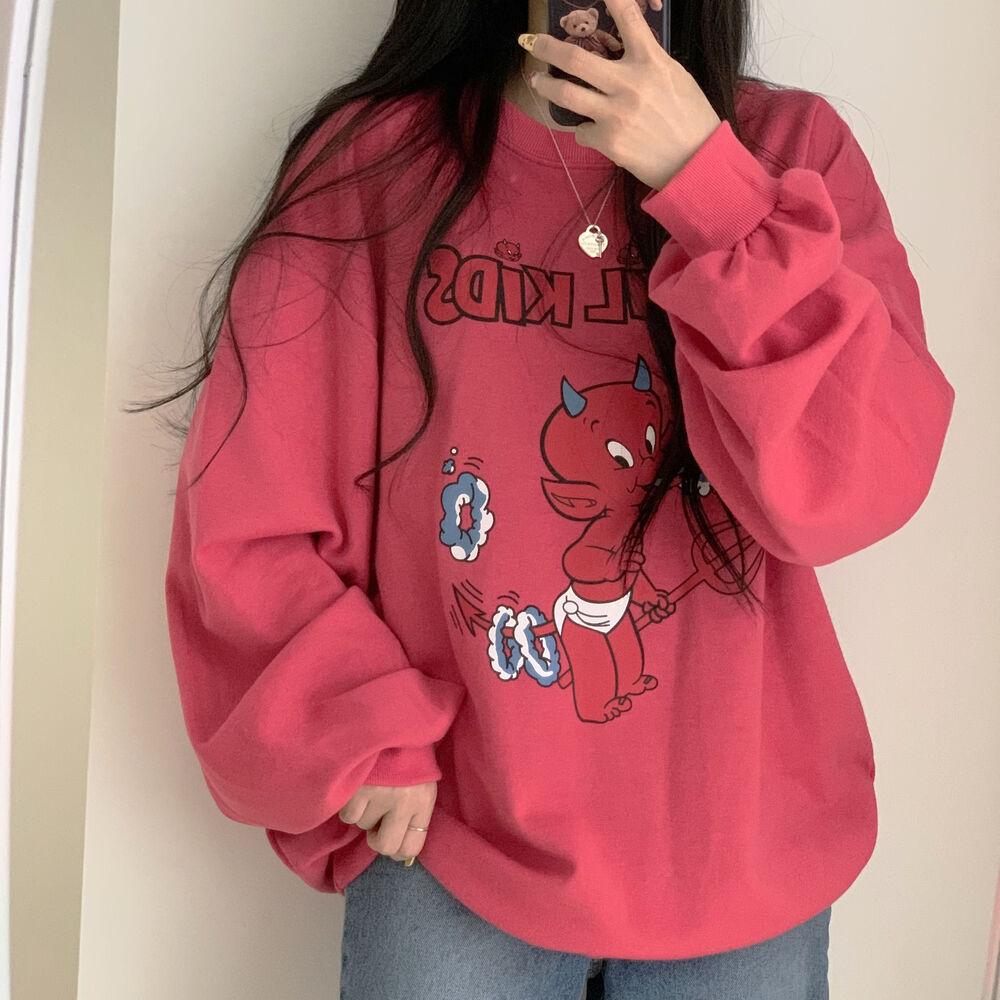 Devil Printing Sweatshirt