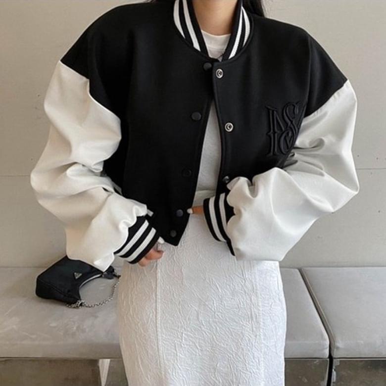 Sporty Color Loose Fit Jacket Jacket