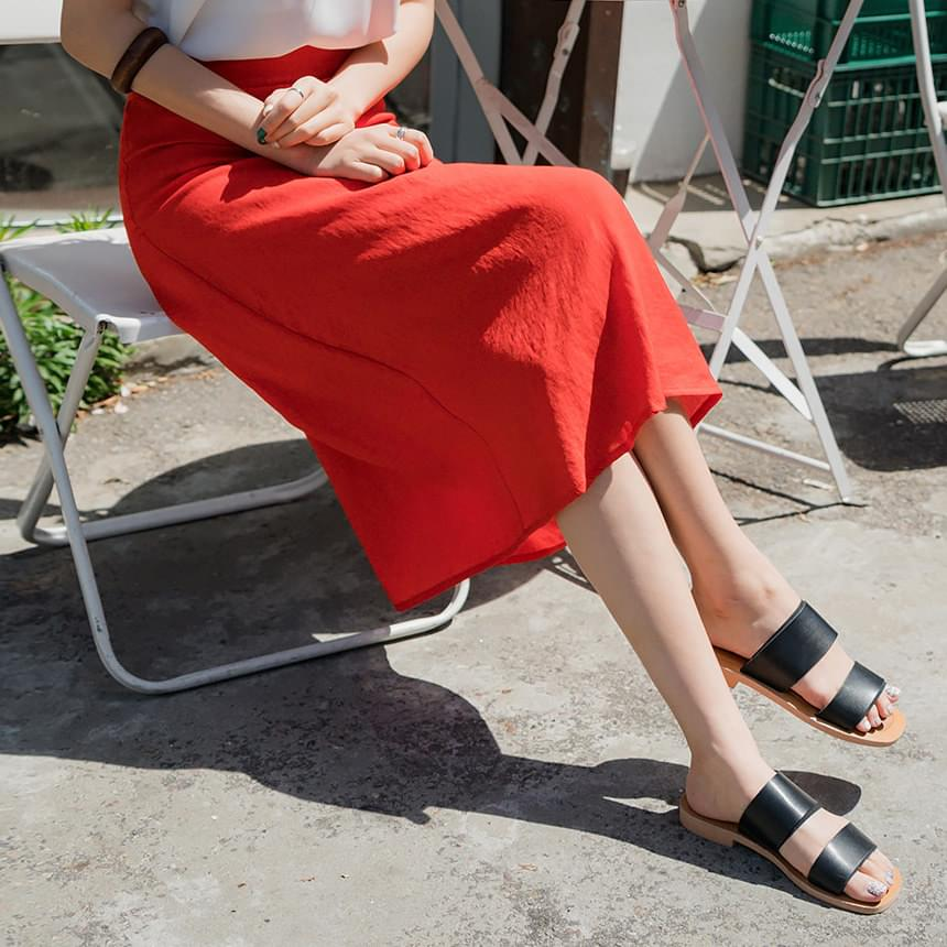 Color Flared Skirt