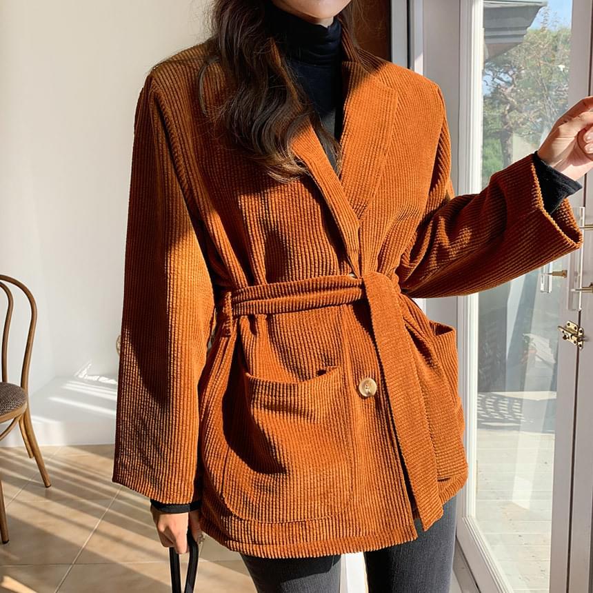Embossed corduroy jacket