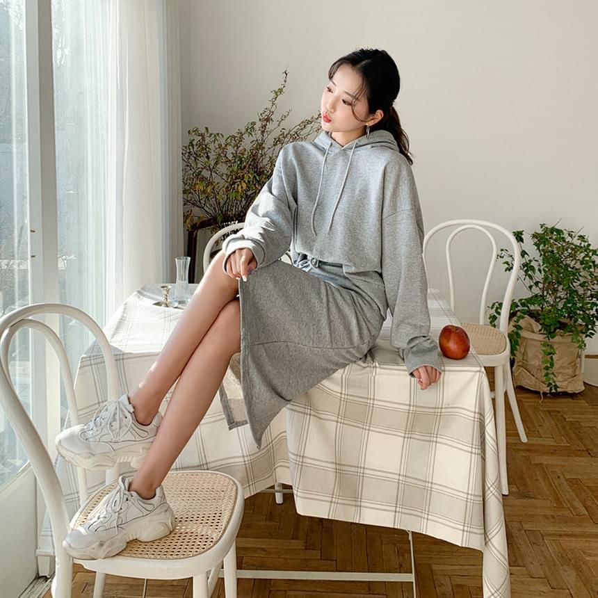 Hooded Skirt Set