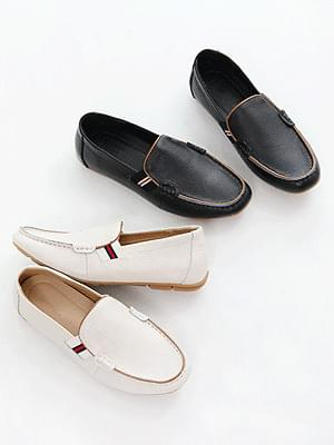 thyme leather loafers 3cm tall