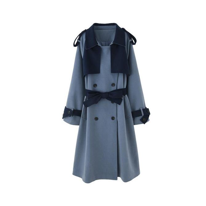 Creamy Rouge Trench Coat