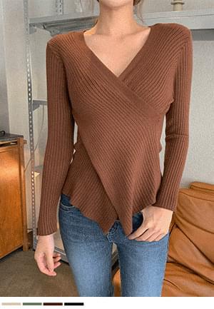 Charm Appeal V-Neck Wrap Knitwear