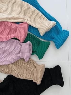 Powder Hachi V-Neck Loose-fit Knitwear