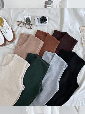Free Neck Knitwear Vest