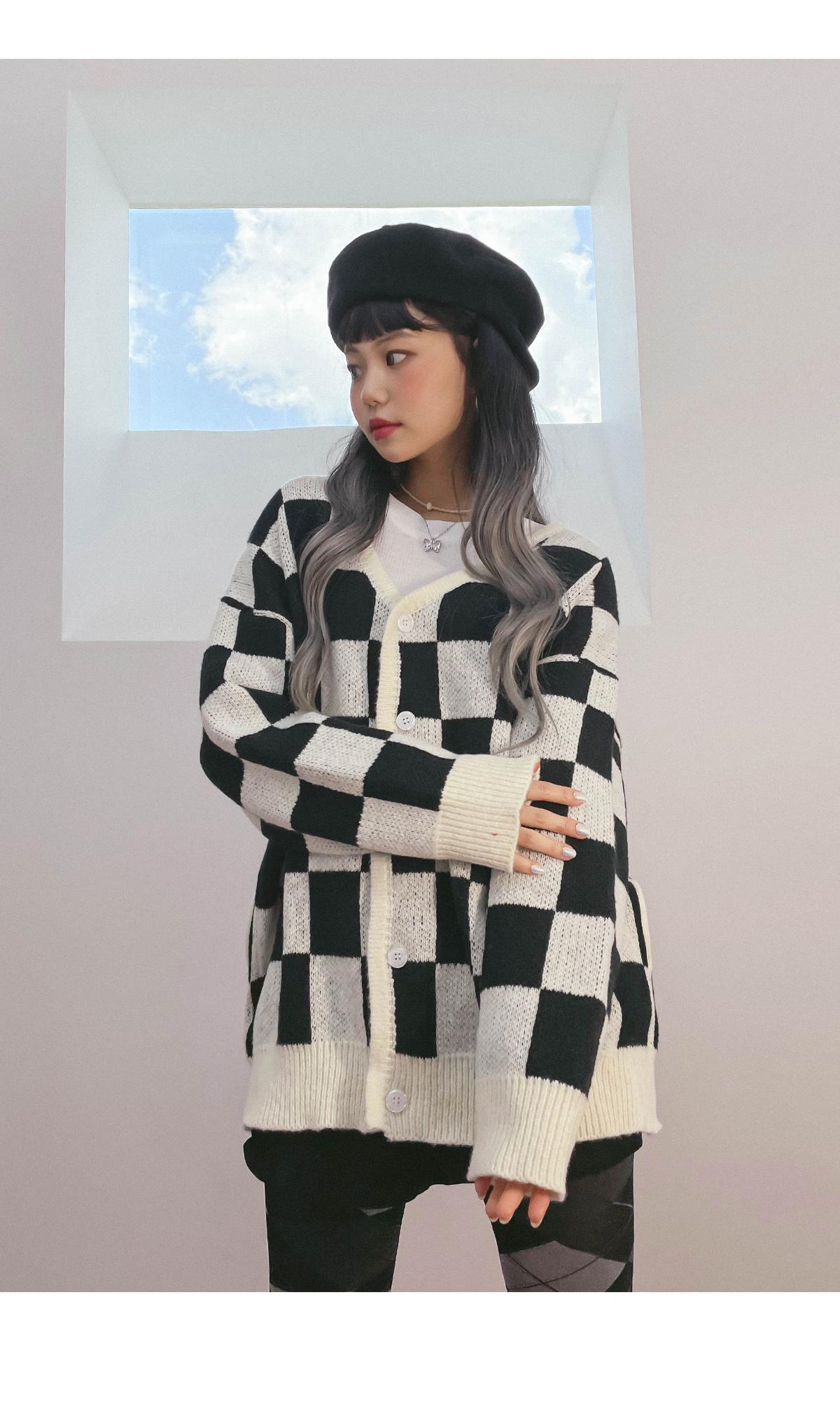 Checkerletto Knitwear Cardigan