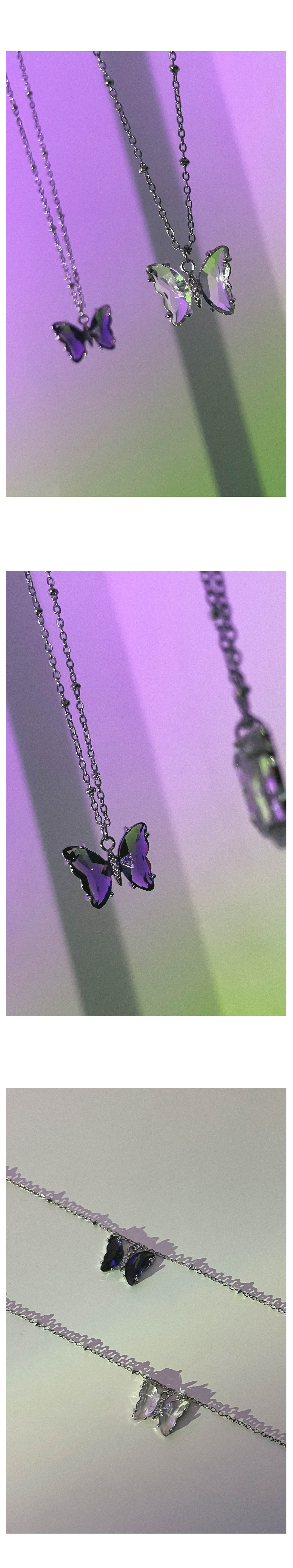 Surgical Steel Barbie Butterfly Necklace