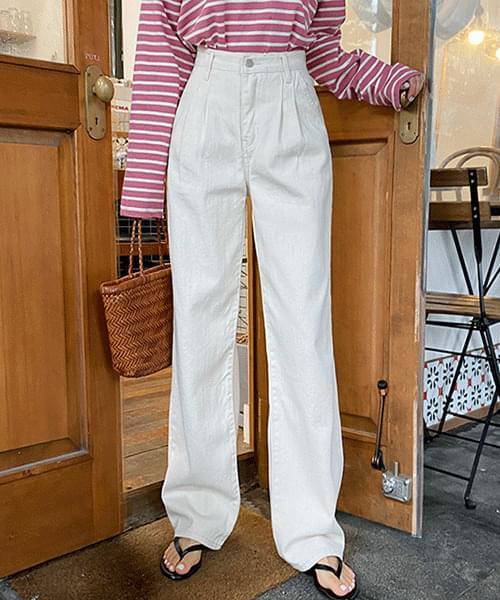 Autumn Pintuck Cotton Wide Pants
