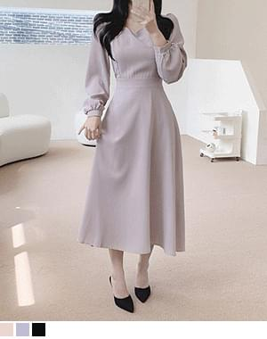 gimmick flare long Dress