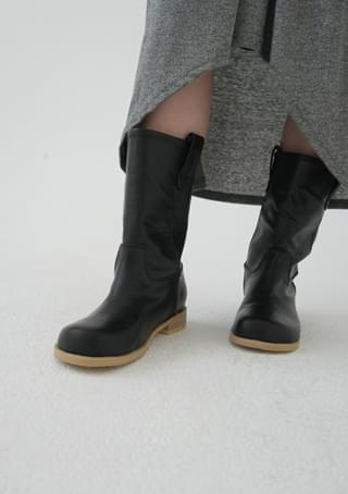 vintage wood middle boots