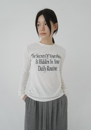 secret lettering top