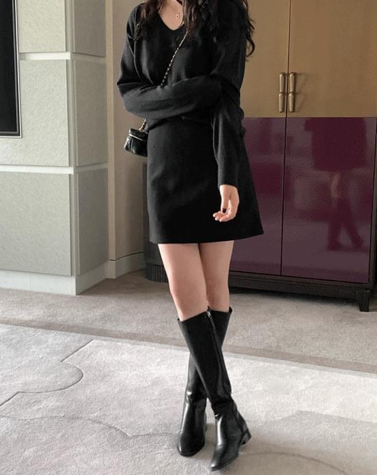Ledle Semi A-Line Mini Skirt - 6 color