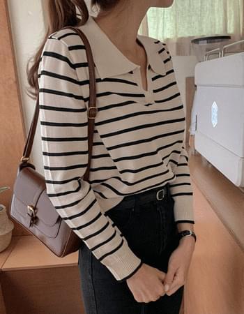 Alwick Norbutton Striped Kara Knitwear