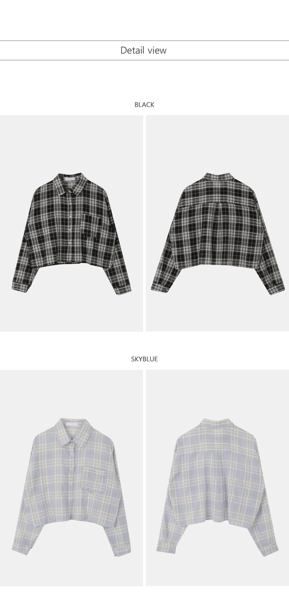 Jay Crop Shirt Black
