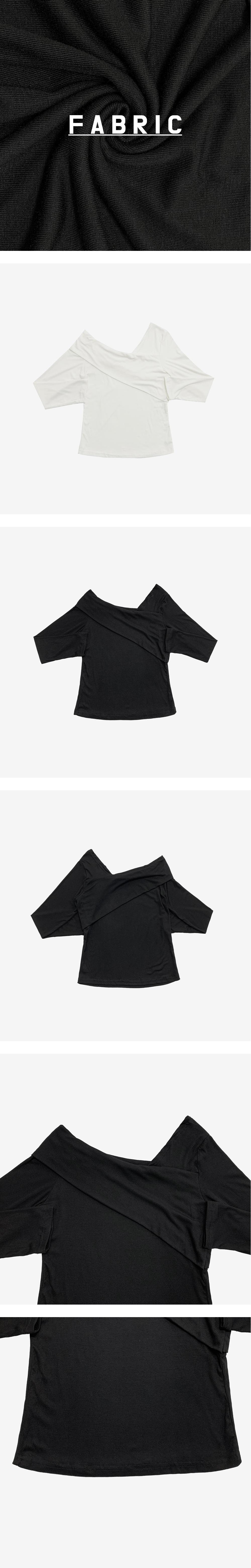 Acro off-the-shoulder T-shirt