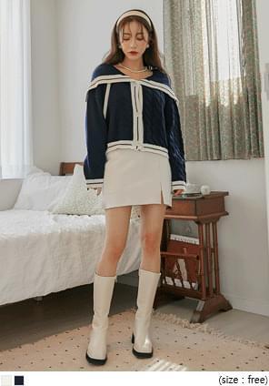 Sailor Collar Knit Cardigan