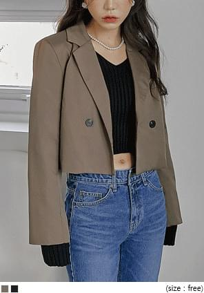 Double-Breasted Crop Jacket