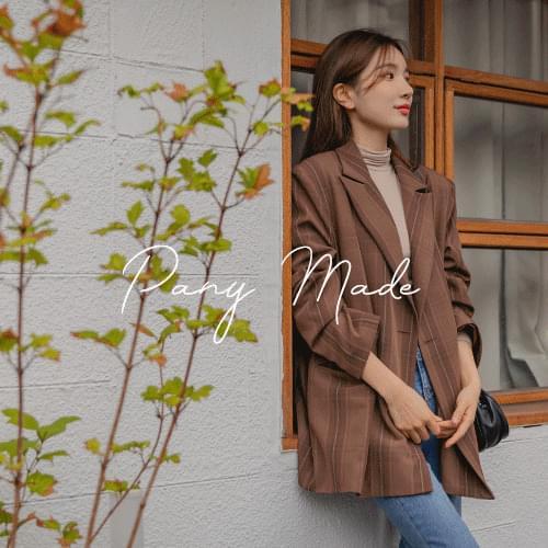 Autumn Overfit Check Jacket