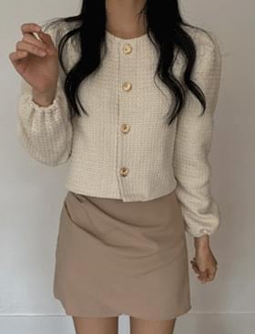 Checker Crop JK Gold Button Tweed :D