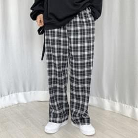 Madras Check Banding Trousers