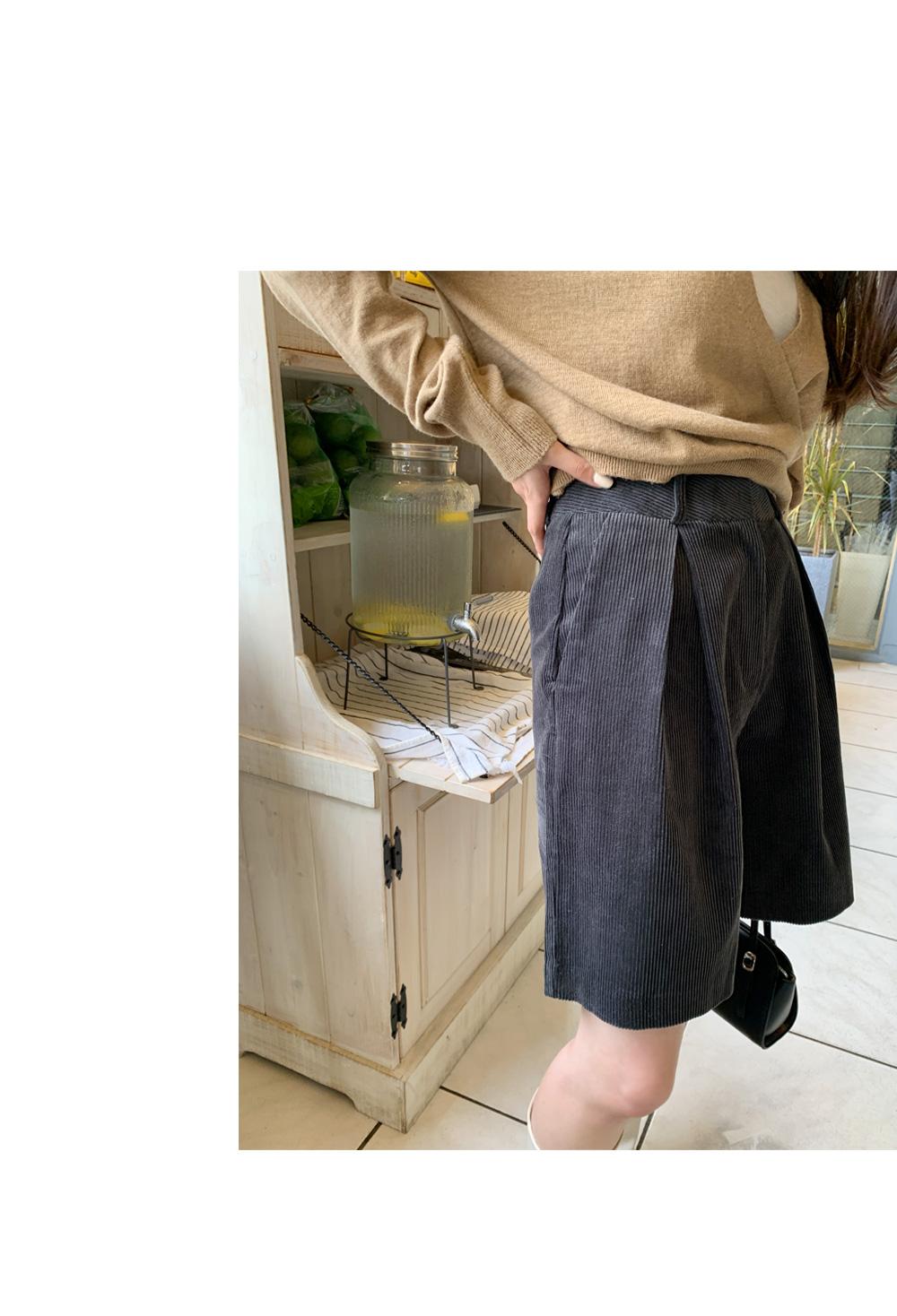 corduroy bermuda trousers