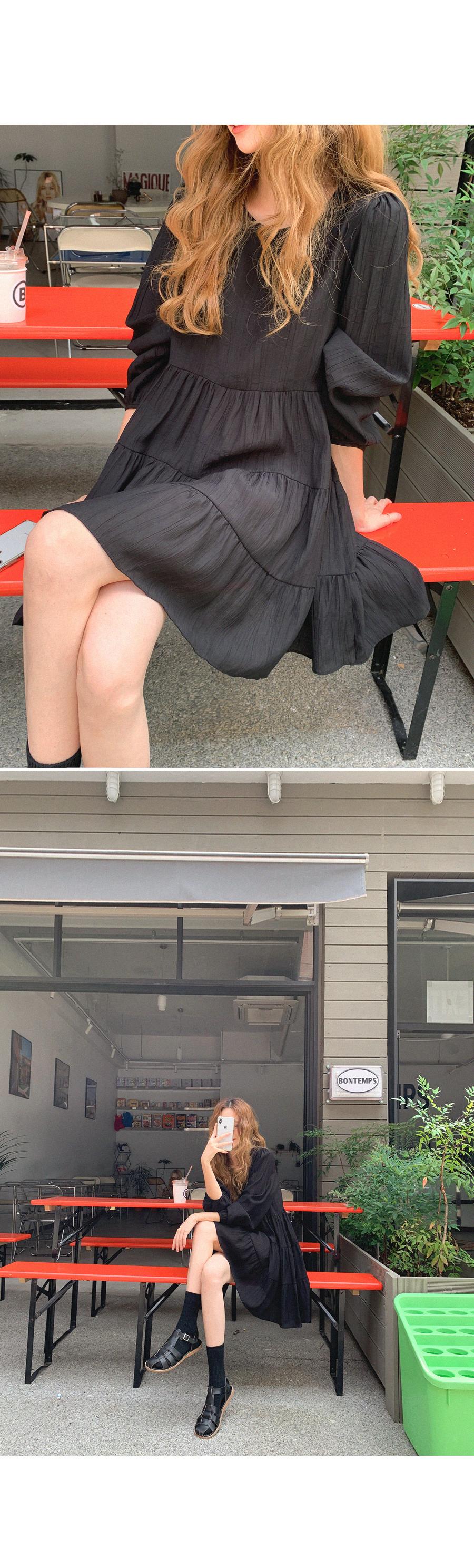 可愛康康長袖短洋裝