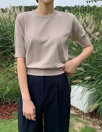 Dalica*Round Short Sleeve Knitwear