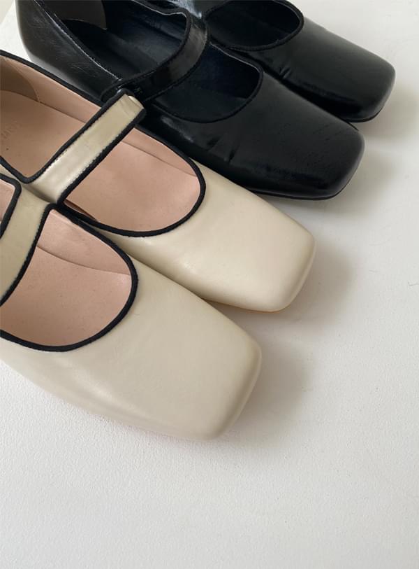 bean button flat shoes