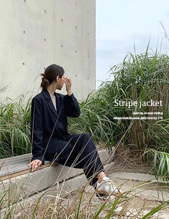 Tall woman vol.57* overfit stripe jacket
