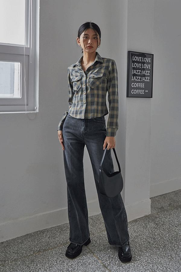 zipped wide Flared trousers