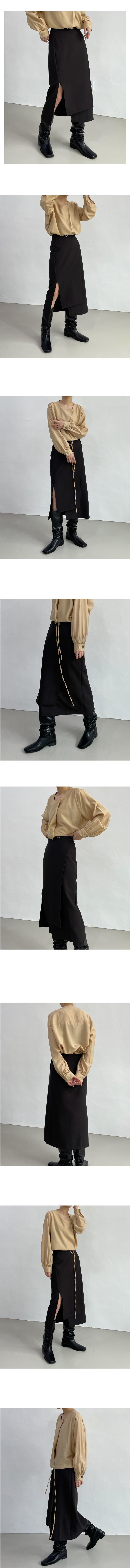 プレアンバランスラップスカート