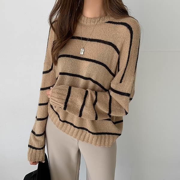 Loose Striped Knitwear #109239