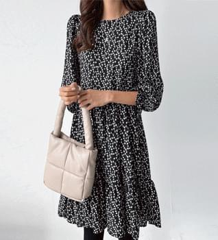 Autumn mood ruffle mini Dress #38091