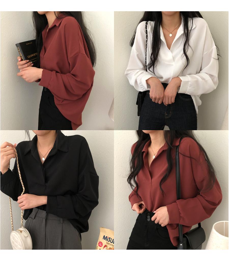Michelle soft collar blouse